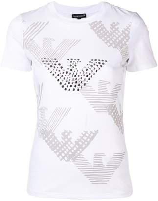 Emporio Armani logo & studded eagle T-shirt