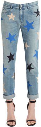 Skinny Boyfriend Stars Print Denim Jeans $495 thestylecure.com