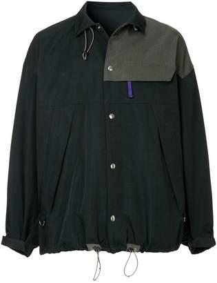 Kolor contrast panel jacket