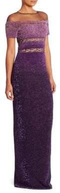 Pamella Roland Signature Sequin Gown
