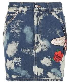 Gucci Bleached denim skirt