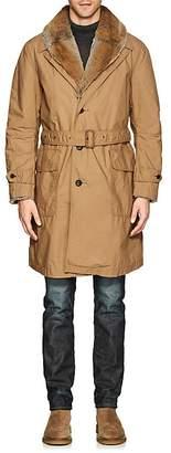 Sage De Cret Men's Fur-Lined Cotton Trench Coat