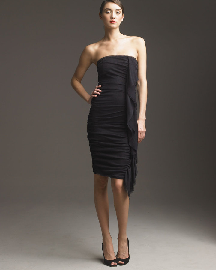 D&G Ruched Silk Tulle Dress
