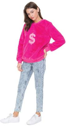 Juicy Couture Faux Fur Dollar Sign Pullover