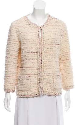 Chanel Sequined Wool-Blend Cardigan