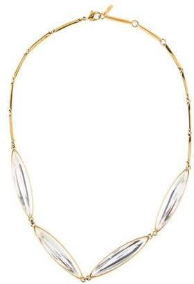 Lalique Crystal Eclat Four Elements Necklace