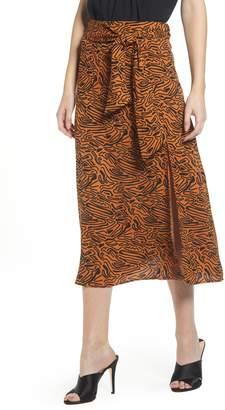 Vero Moda Pattern Midi Skirt
