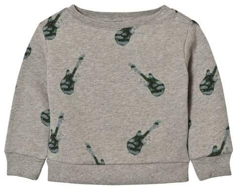 One We Like Grey Melange Baby Basic Guitar Sweater