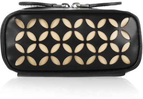 Alaia Laser-cut leather cosmetic case