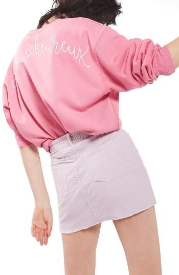 Women's Topshop High Rise Corduroy Miniskirt 3