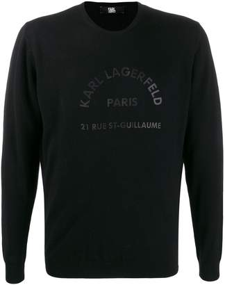 Karl Lagerfeld Paris Address logo knit sweater
