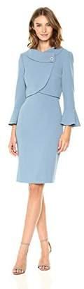 Tahari by Arthur S. Levine Women's Petite Size Pebble Crepe Jacket Dress