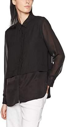 J. Lindeberg Women's Ester Viscose Blend Blouse,(Manufacturer Size:40)