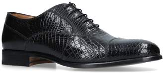 Stemar Crocodile Effect Oxford Shoes
