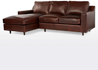 Rejuvenation Garrison Small Sectional Leather Sofa - Left Chaise