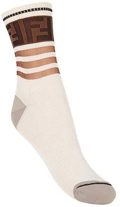 Fendi FF motif ribbed socks