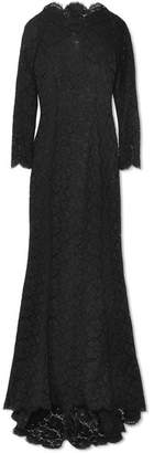 Dolce & Gabbana Floral-lace Gown - Black