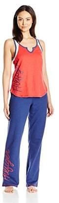 Tommy Hilfiger Women's Top and Pant Bottom Lounge Pajama Set Pj