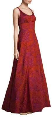 Aidan Mattox Textured Floor-Length Gown