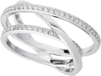 Swarovski Silver-Tone Spiral Ring Size 8.25