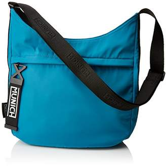 Womens HOBO LONELY SS18 AQUA Shoulder Bag Turquoise Turquoise (Aqua) Munich naPseo7