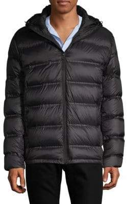 Saks Fifth Avenue Seamless Hooded Puffer Jacket
