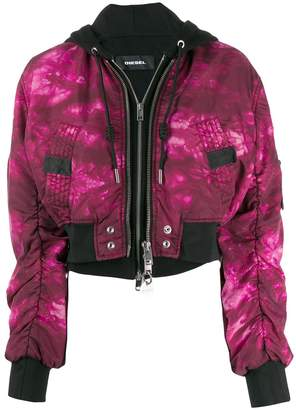 Diesel tie-dye bomber jacket