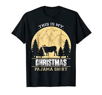 This is my Christmas Pajama shirt Cow Heifer Animal Tshirt
