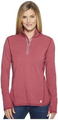 Carhartt Force Ferndale 1/4 Zip Shirt Women's Long Sleeve Pullover