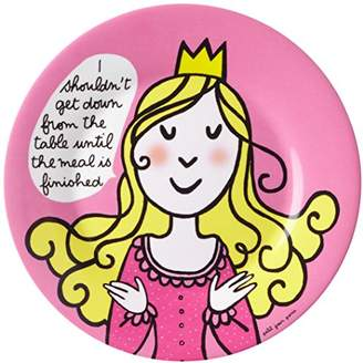 Princess Dessert Plate (20 cm, Princess, I Shouldn'T Get Down From The Table Until The Meal Is Finished)