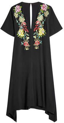 Etro Embroidered Dress with Handkerchief Hem