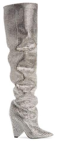 Women's Saint Laurent Niki Crystal Embellished Boot