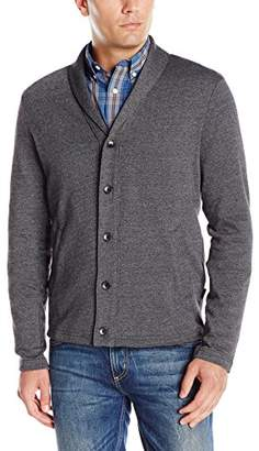 Perry Ellis Men's Shawl Button Front Cardigan