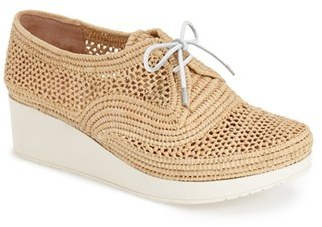 Robert Clergerie 'Vicolek' Woven Wedge Oxford $395 thestylecure.com