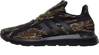 adidas Junior Swift Run Trainers Core Black/Core Black/Olive Cargo