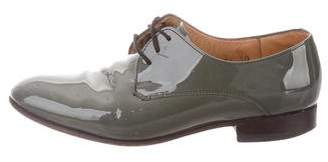 Dieppa Restrepo Patent Leather Round-Toe Oxfords
