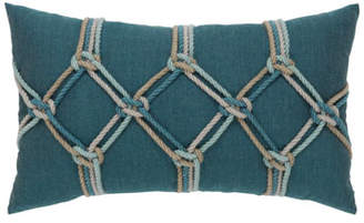 "Elaine Smith Lagoon Rope Lumbar Pillow, 12"" x 20"""
