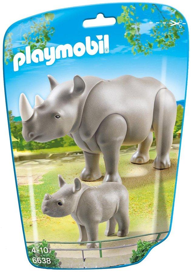 Playmobil Rhino with Baby Building Kit