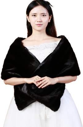 Seven & Nine Service Women's Wrap Shawls Faux Fur Wedding Party/Evening