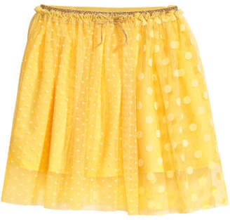 H&M Patterned Tulle Skirt - Yellow