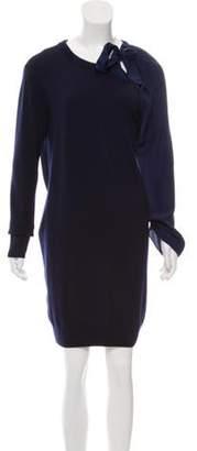 Vionnet Merino Wool Mini Dress Navy Merino Wool Mini Dress