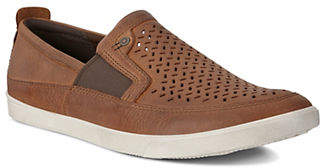 Ecco Collin Perforated Leather Sneakers