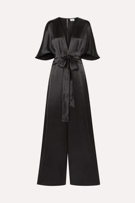 CAMI NYC The Keri Twist-front Silk-charmeuse Jumpsuit - Black