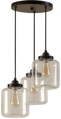 Inkivy INK+IVY Modern Industrial 3-Light Pendant Chandelier