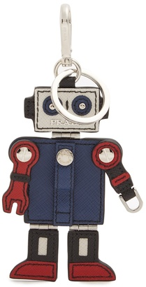Trick Robot leather key ring