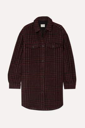 MUNTHE - Hero Oversized Checked Flannel Jacket - Burgundy
