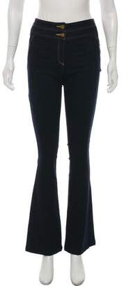 Veronica Beard Flared Mid-Rise Jeans