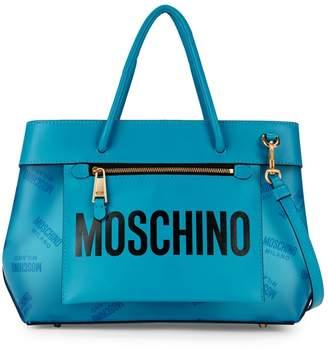 Moschino Logo Open Top Shoulder Bag