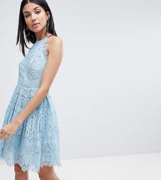 Asos Tall DESIGN Tall pinny prom mini dress in lace