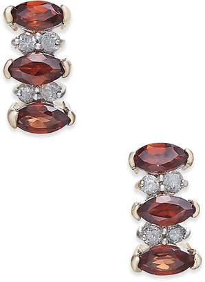 Macy's Rhodolite Garnet (3/4 ct. t.w.) & Diamond Accent Drop Earrings in 14k Gold